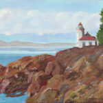 San Juan Light House by Colleen Johansen